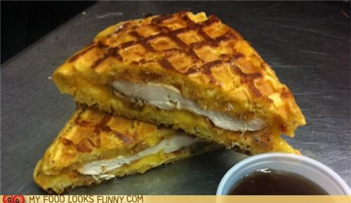 chicken and waffles Grilled portable sandwich - 4973743616