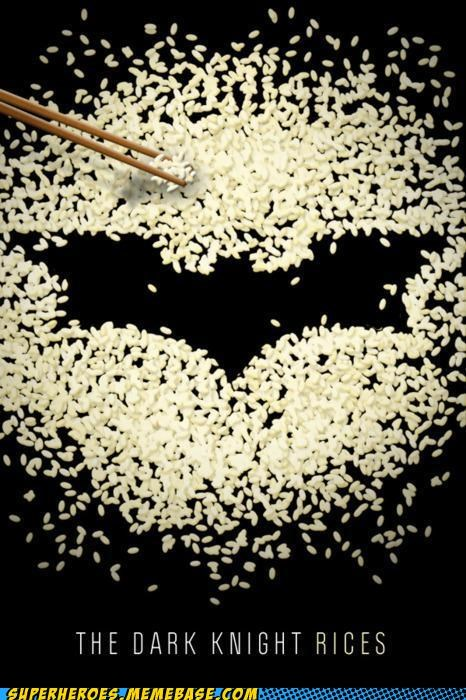 batman food pun Random Heroics rice - 4973791744