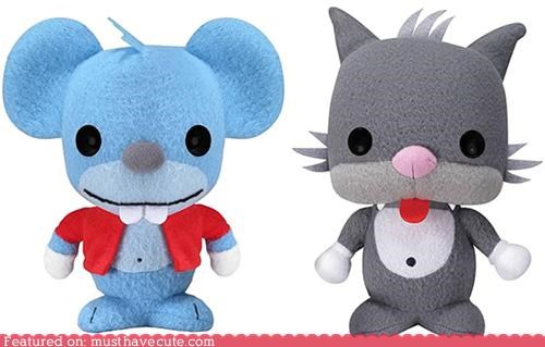 cartoons cat itchy and scratchy mouse Plush simpsons - 4973799424