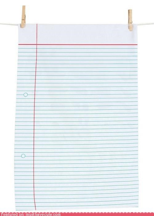 dish towel kitchen lined notebook paper towel - 4973799936