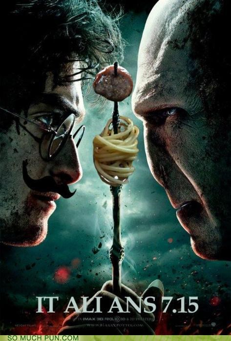 Hall of Fame,Harry Potter,harry potter and the deathly hallows,it all ends,italians,literalism,poster,posters,premiere,shoop,similar sounding,syllables