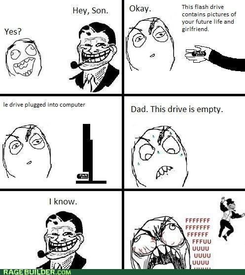 forever alone,future,girlfriend,Rage Comics,troll dad