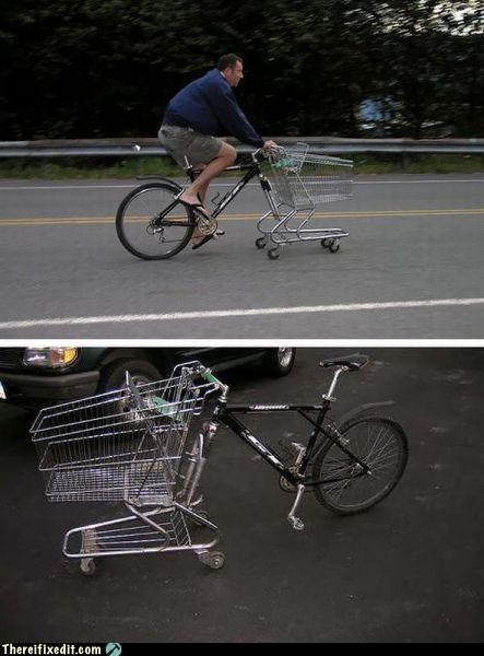 bicycle,bike,cart,shopping cart