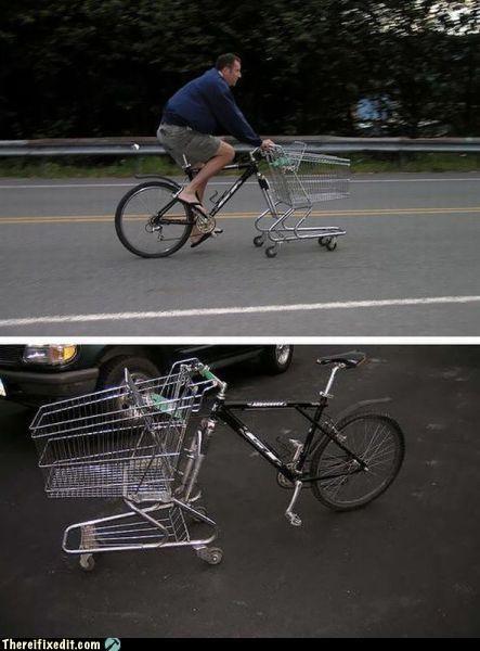 bicycle bike cart shopping cart - 4973919488