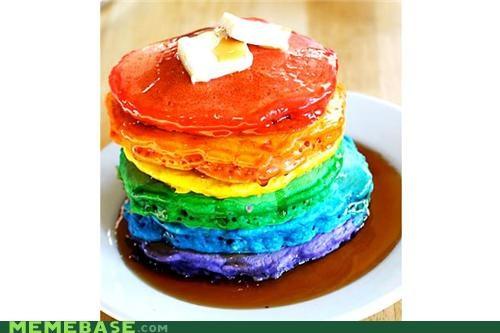 color emo nyan Nyan Cat pancakes rainbow - 4973955840