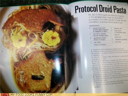 c3p0 cookbook droid egg pasta star wars toast