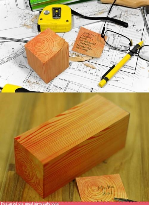 block notepad notes wood - 4974341120