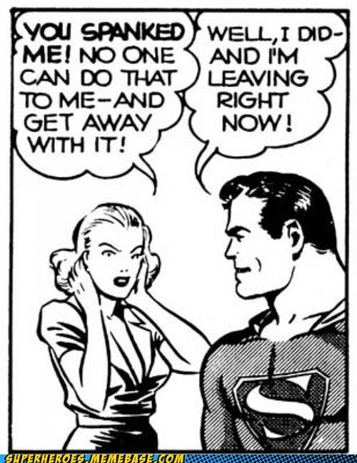 old timey,spanking,Straight off the Page,superman