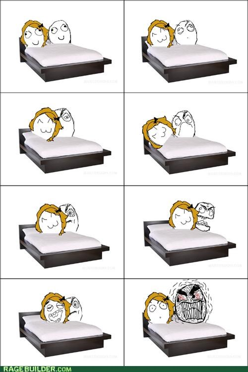 annoying,bed,girlfriend,Rage Comics,Scoot