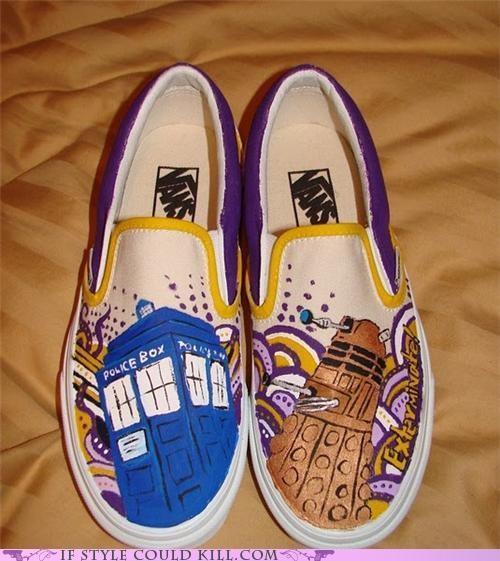 cool accessories doctor who sneakers vans - 4974845440