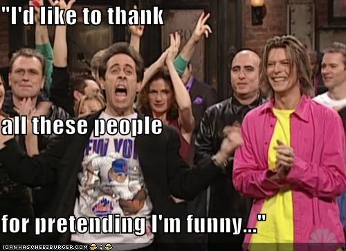 actor,celeb,comedian,david bowie,funny,jerry seinfeld,SNL
