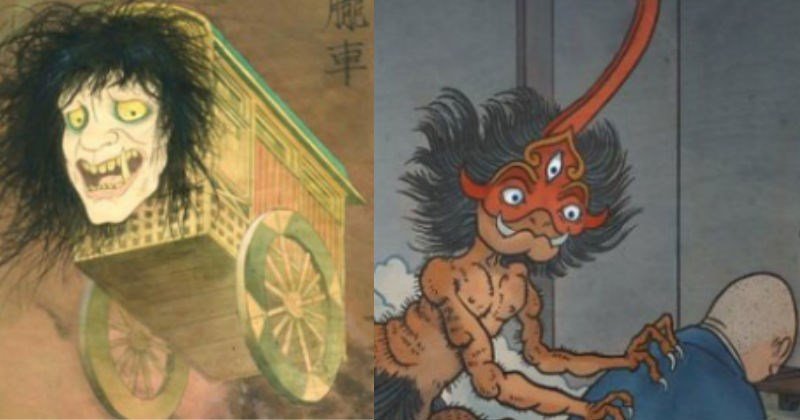 scary art history Japan mythology weird culture - 4975365