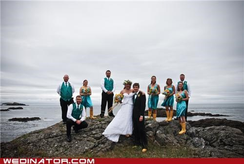 beach crafts funny wedding photos Hall of Fame pacific northwest seattle wedding party