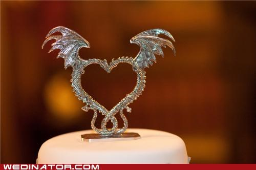 cake toppers dragons funny wedding photos Hall of Fame - 4975471872
