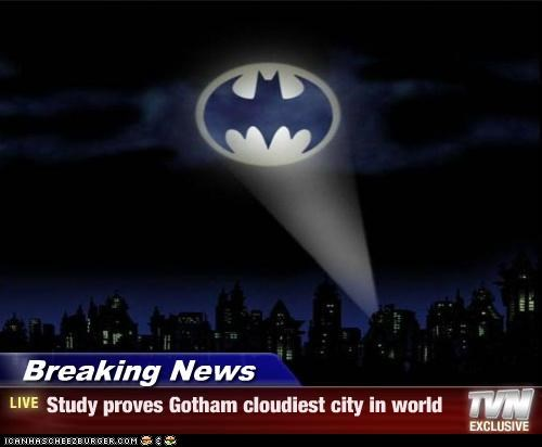 Bat signal batman cloudy gotham Super-Lols - 4975579136