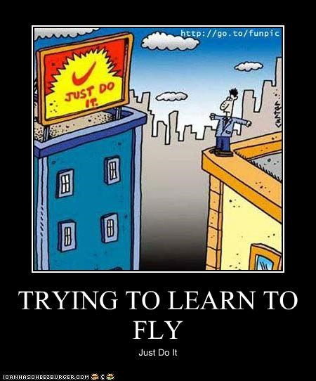 TRYING TO LEARN TO FLY Just Do It