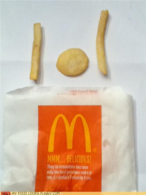 anomaly,fries,McDonald's,round,weird