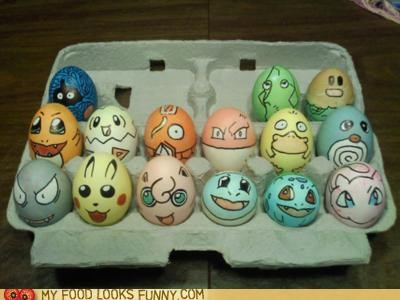 characters,decorated,dyed,eggs,Pokémon