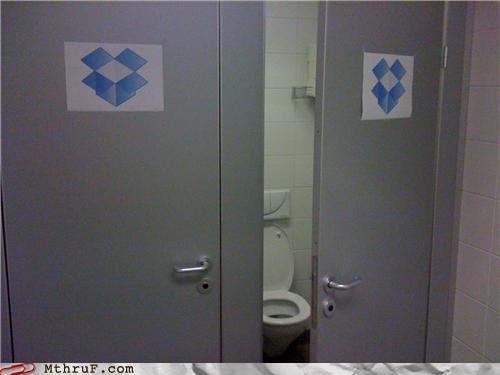 bathroom dropbox stall