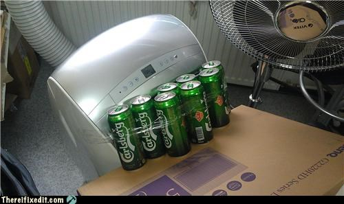air conditioner,beer,interesting
