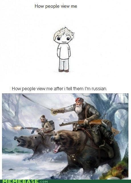 bears,calvary,how they view me,Memes,russia