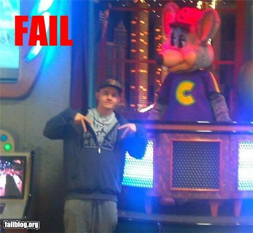 chuck e cheese embarrassing gangster g rated looking tough Photo
