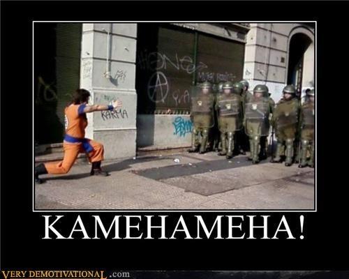 dragonball goku hilarious kamehameha - 4976620544