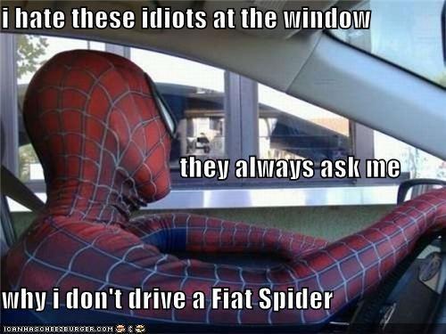 cars drive thru IRL Spider-Man Superhero IRL - 4976644608