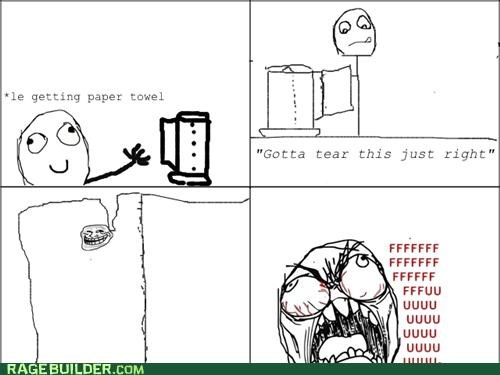 annoying,paper towels,Rage Comics,tear