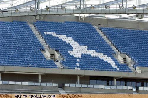 IRL,poop,seagull,seats,stadium