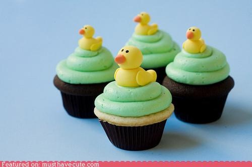 cipcakes,duckies,epicute,fondant,frosting