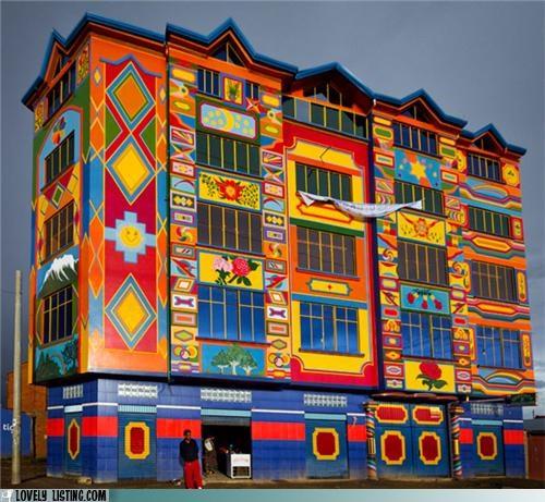 bolivia colorful design paint