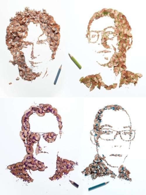 art,Kyle Bean,Pencil Shaving Portraits