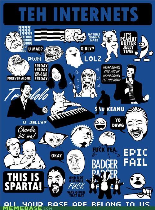 all the memes badges FAIL internet Memes shirt - 4977095680