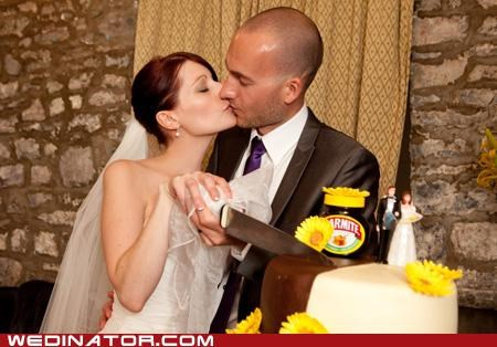 bride,funny wedding photos,groom,marmite