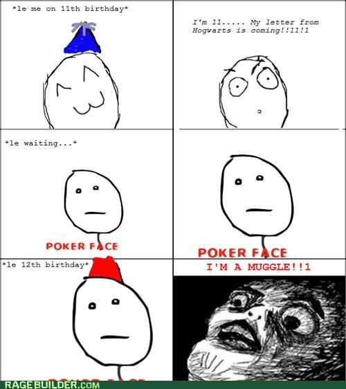 birthday,Harry Potter,Hogwarts,muggle,Rage Comics