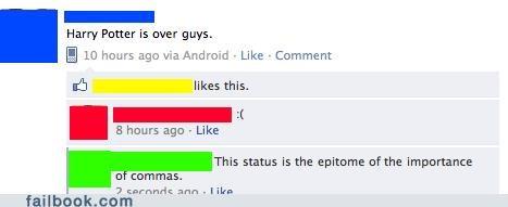 commas are important grammar Harry Potter - 4977256704