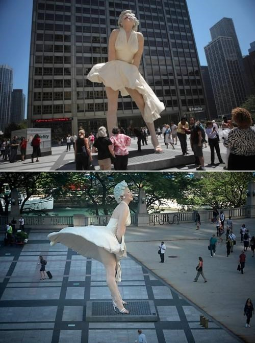 chicago j-seward-johnson marilyn monroe Sexy Statue The Seven Year Itch - 4977277184