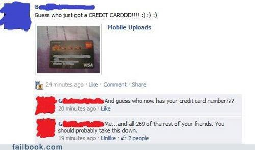 credit card facepalm identity theft image stupid