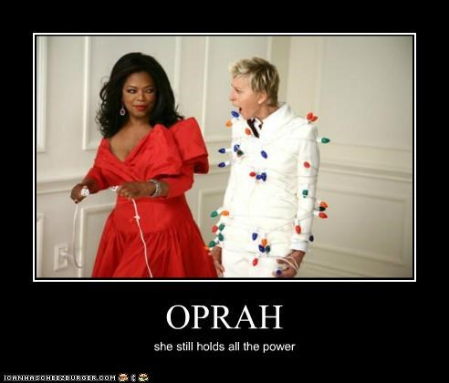 celeb demotivational ellen degeneres funny oprah TV - 4978196992