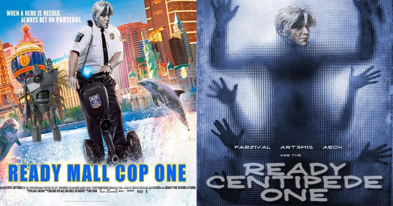 Funny parodies of REady Player One posters.