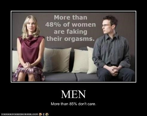 MEN More than 85% don't care.