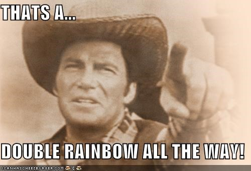 devils-rain,double rainbow,double rainbow all the way,Movie,roflrazzi,William Shatner