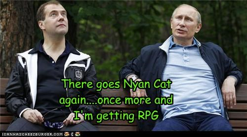 Dmitry Medvedev,Nyan Cat,political pictures,Vladimir Putin