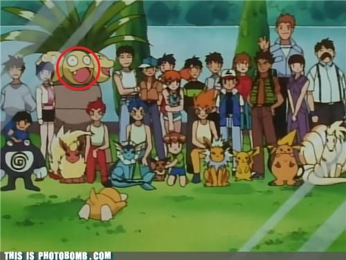 Exeggutor group shot photobomb Psyduck - 4979061248