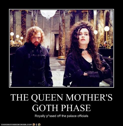 THE QUEEN MOTHER'S GOTH PHASE Royally p*ssed off the palace officials