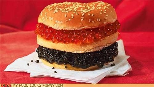 buns burger caviar fish eggs roe - 4979219456