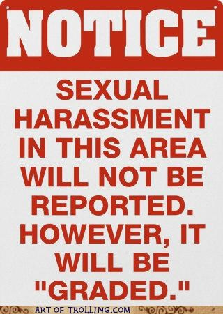graded notice reported sexual harassment sign - 4979228672