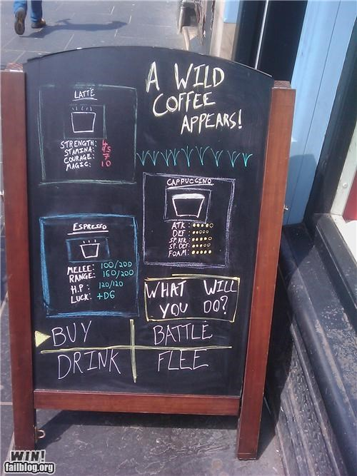 art awesome chalkboard coffee Pokémon - 4979267328