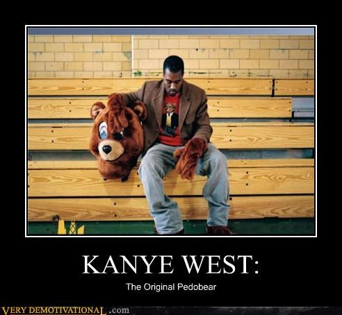 creepy hilarious kanye west pedobear wtf - 4979690752